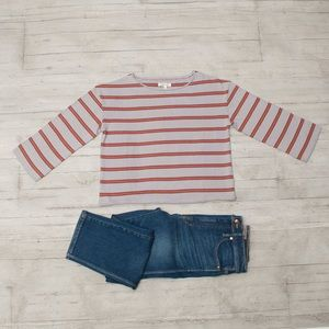 NWT Madewell Striped Boatneck Tee size S
